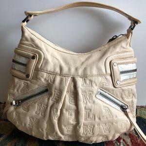 L.A.M.B initial leather handbag